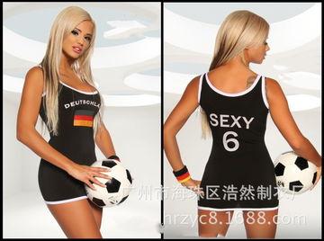 2014世界杯酒吧足球宝贝服装分体啦啦操女ds