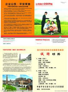 中国平安保险公司宣传彩页图片