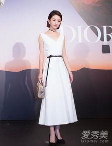 赵丽颖白色连衣裙是什么牌子 赵丽颖穿白色裙子图片 爱秀美