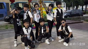 小帅哥们超炫合照-中国小金钟舞蹈大赛之超炫 韩国小天团