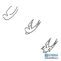 简笔画(34)——可爱的小燕子