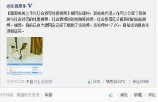 传郭美美17.2G性爱视频流出 网友纷纷求下载