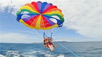 海上拖曳伞飞翔体验 英语服务