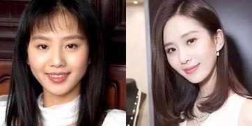 刘诗诗出道前后变化真不大一直那么美-明星10年前后的对比照 赵丽颖...