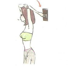 人人狠操-Step2、手肘保持不动,以上臂感觉书本的重量,顺势往后倒.此时要...