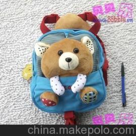 韩国品牌 2013款新款儿童小熊包包 学前包 双肩包 书包批发