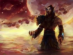魔兽世界绘画 时空之主 流逝的岁月之沙