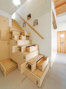特别节省空间的楼梯,实用方便,节省空间.-18款颇有创意的家装设...