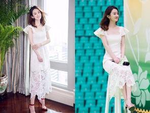 赵丽颖时尚大逆袭 穿一身白色蕾丝裙惊艳全场,谁还能说她土
