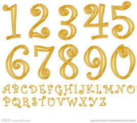 数字图片1到10创意-创意金色数字图片