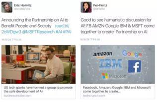 美国科技巨头发布开发AI系统的原则