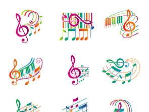 音乐图标音符乐谱矢量简谱五线谱