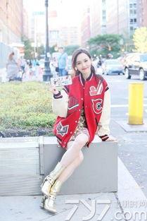 ...Coach秀场街拍 棒球搭服配大长腿 -唐嫣街拍最新图片,唐嫣街拍生...
