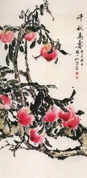 ▲《千秋万寿》 颜小仙 作-颜小仙的花鸟画艺术 墨写万花春