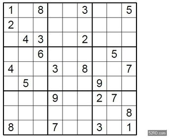 数独玩法,简单题目解法解析6唯一法的应用