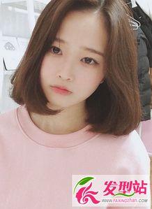...脸女生韩式短发发型设计 显瘦韩国女生刘海短发发型图片