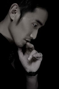 欧美男性人像写真-型男奇道黑白写真倍显男性魅力