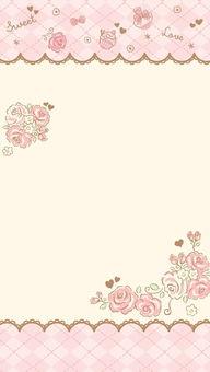 可爱少女粉色系小清新高清手机壁纸