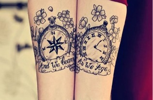 情侣值得拥有 创意十足的纹身