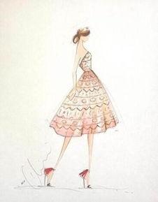 芭比小礼服设计图手稿素描