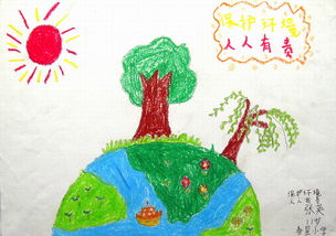 爱护环境保护地球简笔画图片 幼儿园保护环境简笔画怎么画