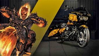 火焰骷髅恶灵骑士:   美女蜘蛛侠... 各位漫威迷们感觉这些哈雷摩托车...