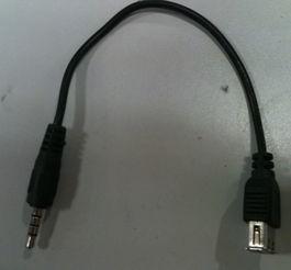 5转usb母音频转换线/汽车aux线mp3车载音响-5接口车载音频线 连接线
