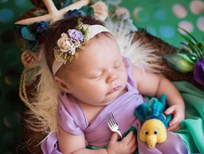 爱丽儿公主-小婴儿也能拍出美美的迪士尼公主照