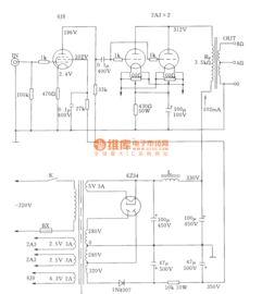 电子管单端A类2A3并联功放电路图