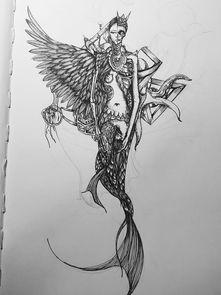 人鱼素描-美人鱼