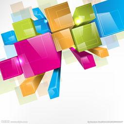 动感方块 缤纷元素图片