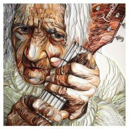 超品全才-给人以震撼的衍纸画作品,其中有几幅手艺活也曾有做过分享.用美轮...