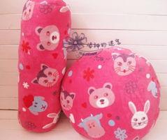 ...梨花的爱靠垫 男朋友抱枕圆柱动物园坐垫枕头