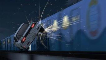 《名侦探柯南:零的执行人》中的飙车镜头-柯南难磕