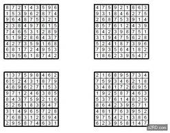 高级杀手数独每周八题 20140313 修改版