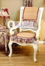 ...西欧式巴洛克夏凉椅坐垫 欧式风格 凉席 餐椅垫