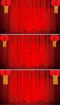 ...笼粒子小品相声戏曲LED视频素材-MP4晚会背景年会红色
