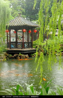 雨中园林高清图片下载 红动网