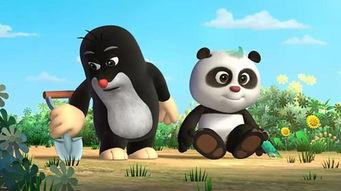 中捷合拍动画片《熊猫和小鼹鼠》剧照-一带一路 动漫国际合作的新东风