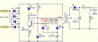测试手机充电器变压器电路图