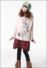 扣阴蒂15p-这款衣服的款式是韩国的宽松款式,袖子处有松紧带收皱,还有宽大的...