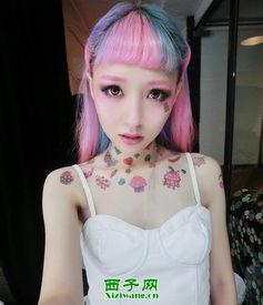 女生短发挑染发型图片 超个性渐变色发型