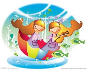 拉小提琴的卡通女孩图片