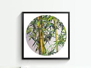 水彩画竹子无框画 15151254 中国风无框画