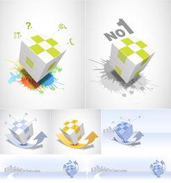 魔方方块元素矢量图下载