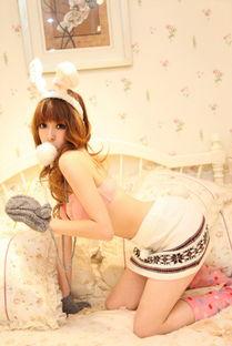 上海足球宝贝写真 超萌可爱清纯兔子装扮