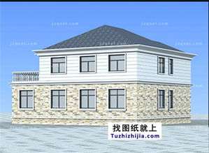 ...方米新农村自建二层小别墅设计图及效果图,15X13米