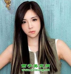 女生长发挑染发型图片 另类潮感让回头率大增
