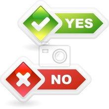 ...320486 Yes and No. Vector beautiful icon set. -是的,漂亮的图标集