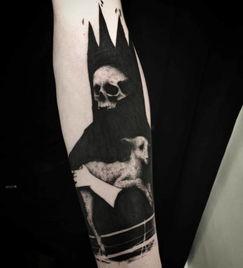 6叔全身的黑灰纹身够帅,但这10款纹身比他玩得更疯